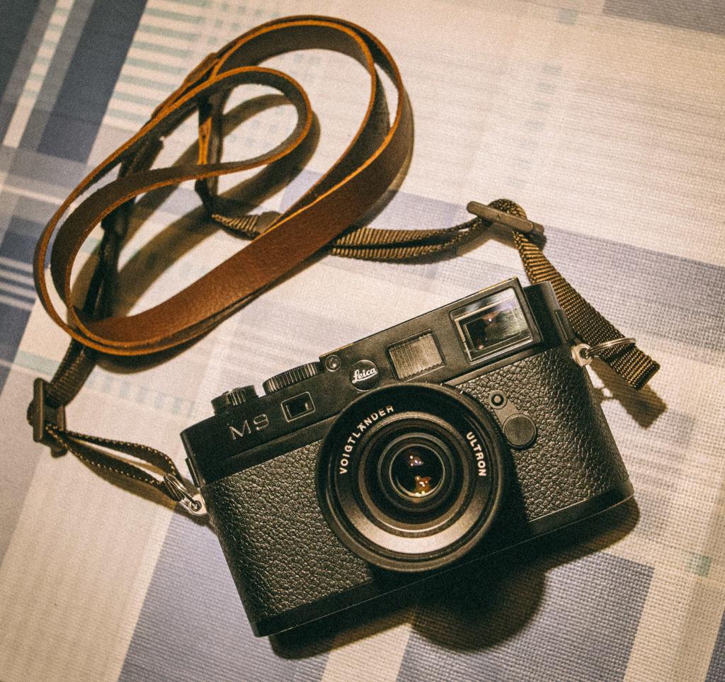 Leica M9 mit Gurt